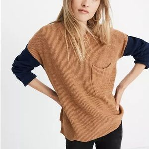 Madewell Thompson Pocket Pullover Sweater in Colorblock size XS
